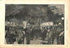 Fête 14 Juillet Palais-Bourbon Jules Grévy & Léon Gambetta Jardin GRAVURE 1879