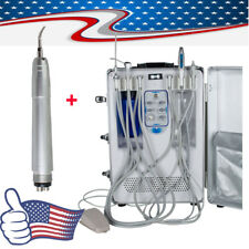 Portable Dental Delivery Unit Mobile Case Compressor Suction Curing Light Scaler