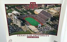 Vintage Kyle Field Texas A&M Aggies Poster 27 3/4 x 22 Inches