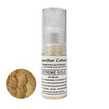 Sugarflair Essbar Pulver Puff Funkeln Nicht-Aerosol Spruhen 10g - EXTREMES GOLD