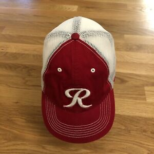 Tacoma Rainer's Baseball Cap Fitted OS Trucker Hat Mesh White Red Minor League