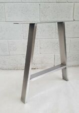 "2x Table A legs Metal Steel Rustic Industrial "" The 'A'  Leg "" Made in England"