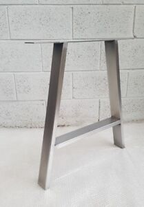 """2x Table A legs Metal Steel Rustic Industrial """" The 'A'  Leg """" Made in England"""