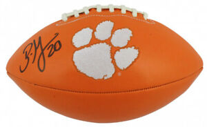 Brian Dawkins Signed Clemson Tigers Logo Football (Beckett COA)