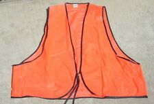 Jeros Orange Hunters Vest Vinyl Hunting Hunt Adult New