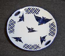 Vintage Victoria Austria Blue Bird China Porcelain Reticulated Lattice Platter