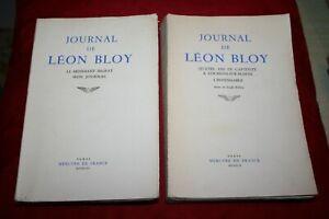 JOURNAL DE LEON BLOY 2 VOLUMES EDITIONS MERCURE DE FRANCE 1956/1959