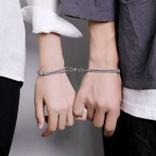 2Pcs Distance Couple Rope Braided Magnetic Bracelet Kit Lover Friendship Jewelry
