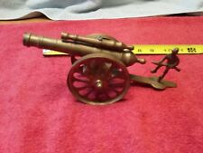 Decorative Vintage Old Hand Crafted Brass Collectible Cannon