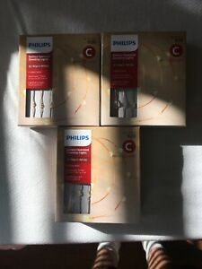 3-Philips 30ct Christmas Battery Operated LED Dewdrop String Lights Warm white