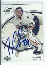 Ty Conklin Signed 2005/06 Upper Deck Ice Card #37