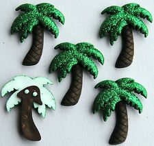 GLITTER PALM TREES - Tropical Island Summer Dress It Up Craft Embellishments