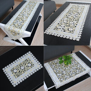 Embroidered Table Runner Mats Doilies Christmas Wedding Party Dining Home Decor