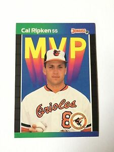1989 Donruss Cal Ripken Jr. MVP Insert Baltimore Orioles Baseball Jr HOF
