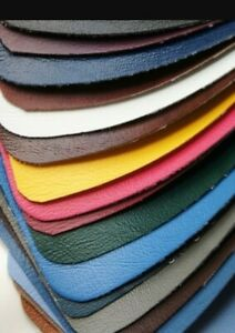 """UPHOLSTERY VINYL LEATHER FABRIC ( 54"""" WIDE) diff colours Flame Retardant)"""