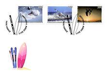 Liechtenstein 2017 FDC Outdoor Sports Skiing Surfing Windsurfing 3v Cover Stamps