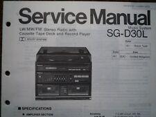 PANASONIC SG-D30L Stereo Music Centre unit Service manual wiring parts diagram