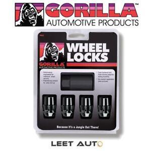 Gorilla Wheel Locks, Black, 12mm x 1.25 Thread, Bulge Acorn, 12x1.25, 71621NBC