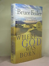 1st,signed by author,Where God was Born:A Journey 2 Roots Religion,Bruce Feiler