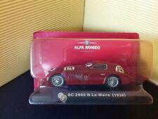 Modellino DIE CAST Fabbri ALFA ROMEO 8c 2900 B Le Mans 1938 1/43 NUOVO NIK41