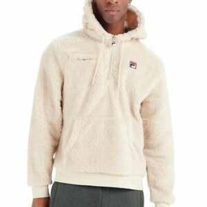 FILA Mens Vintage Krish LM037855 Sherpa Soft Snuggle Overhead Hood Top XXLarge