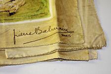 PIERRE BALMAIN PARIS Foulard Femme 100% SOIE 🎉 75 X 75 CM 👜 OCCASION VINTAGE