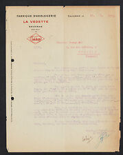 "SAVERNE (67) USINE d'HORLOGERIE ""LA VEDETTE"" Lettre 1925"