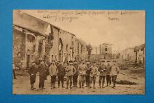 Meuse 55 Lorrain CP CPA Muzeray 1915 Militaires Soldaten Uniform Rue ruines 1.WK