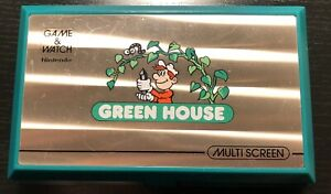 Nintendo Game & Watch GREEN HOUSE GH-54 MULTI SCREEN 1982 GREAT CONDITION