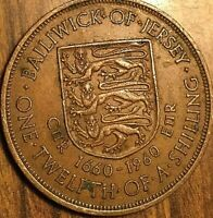 1960 BAILIWICK OF JERSEY 1/12 OF A SHILLING