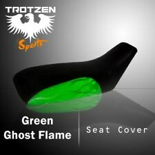 Honda TRX200SX 1986-1989 Green Ghost Flame Atv Seat Cover  #pht15415 eby7425