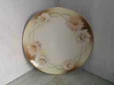 "R S Silesia Tillowitz Asters Plate 8"" Vintage Germany Flowers Floral Brown Tan"