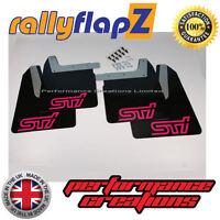 Mudflaps SUBARU IMPREZA Blobeye (03-05) rallyflapZ 4mm PVC Black STi style Pink
