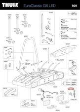 Clip cavo Set (4stk). 928/929 PER EUROCLASSIC travi g6