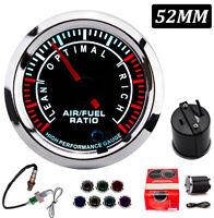 52MM Pointer Display AFR Gauge Air Fuel Ratio Gauge W/ Narrowband Oxygen Sensor