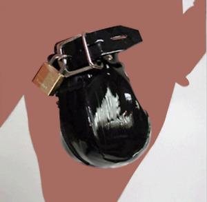 Cage de ceinture de chasteté masculine en cuir PU sous le dispositif de bondage