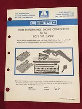 ORIGINAL SHELBY FORD BOSS 302 DEALERSHIP SALES SHEET BROCHURE.