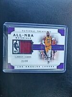2018-19 National Treasures All-NBA LeBron James Jersey 21/99 Los Angeles Lakers