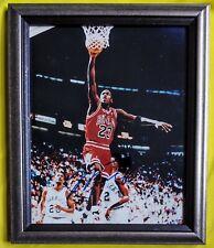 Michael Jordan/Chicago Bulls 8X10 Auto Signed Photo Framed W/COA!🔥MINT🔥