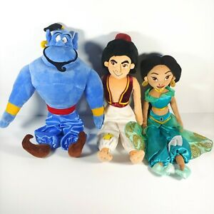 "Aladdin Jasmine Genie Disney Store Stuffed Plush Set 19"" EUC"