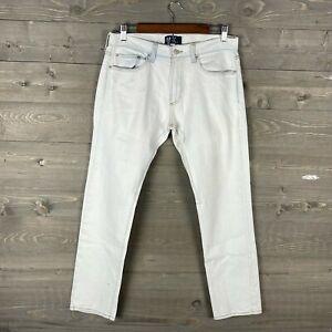 GAP Men's White Slim Straight Stretch Fit Denim Jeans Size 30x30