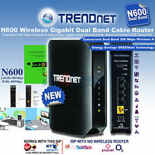TRENDnet N600 300+300Mbps Wi-Fi Dual-Band Cable / DSL Router 4-Port Gigabit NEW