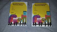 HALLMARK SET OF 2 HALLOWEEN PARTY INVITATIONS Hallmark Monsters 20 Total
