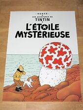 TINTIN POSTER LARGE - L´ÉTOILE MYSTÉRIEUSE / THE MUSHROOM - 70 x 50 cm MINT NEW