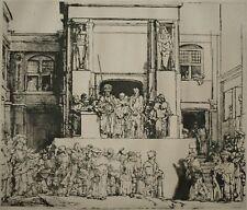 Rembrandt Van Rijn Ecce Homo Jésus & Pilate Rare Grande gravure XIXème siècle