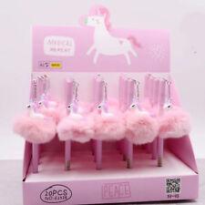 Unicorn Flamingo Pom Pom Ball Ballpoint Pen Pink Soft Stationery School Supplies