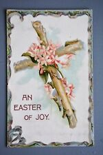 R&L Postcard: Greetings, Easter Holy Cross, Misch Emblem of faith