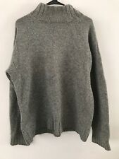 MEN DKNY JEANS Gray Ribbed Turtle Neck Knit Sweater Top Size L Winter Large
