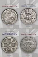 Pre Decimal Silver Coin Collectors Album Florin Shilling Sixpence 1855 1967 [C]