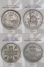More details for pre decimal silver coin collectors album florin shilling sixpence 1855 1967 [c]